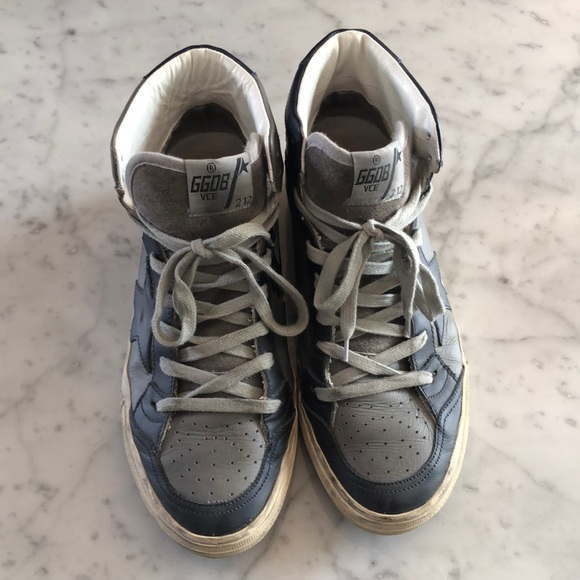 7a39777def75 Golden Goose Shoes - Golden Goose GGOB 2.12 Leather Sneakers Sz 40